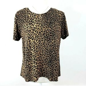 Hillard & Hanson Sexy Animal Print Shirt Size L